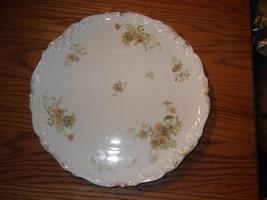 T&V Tressemanes & Vogt Limoges Charger Chop Plate Pink Flowers 1907-1919 - $14.01