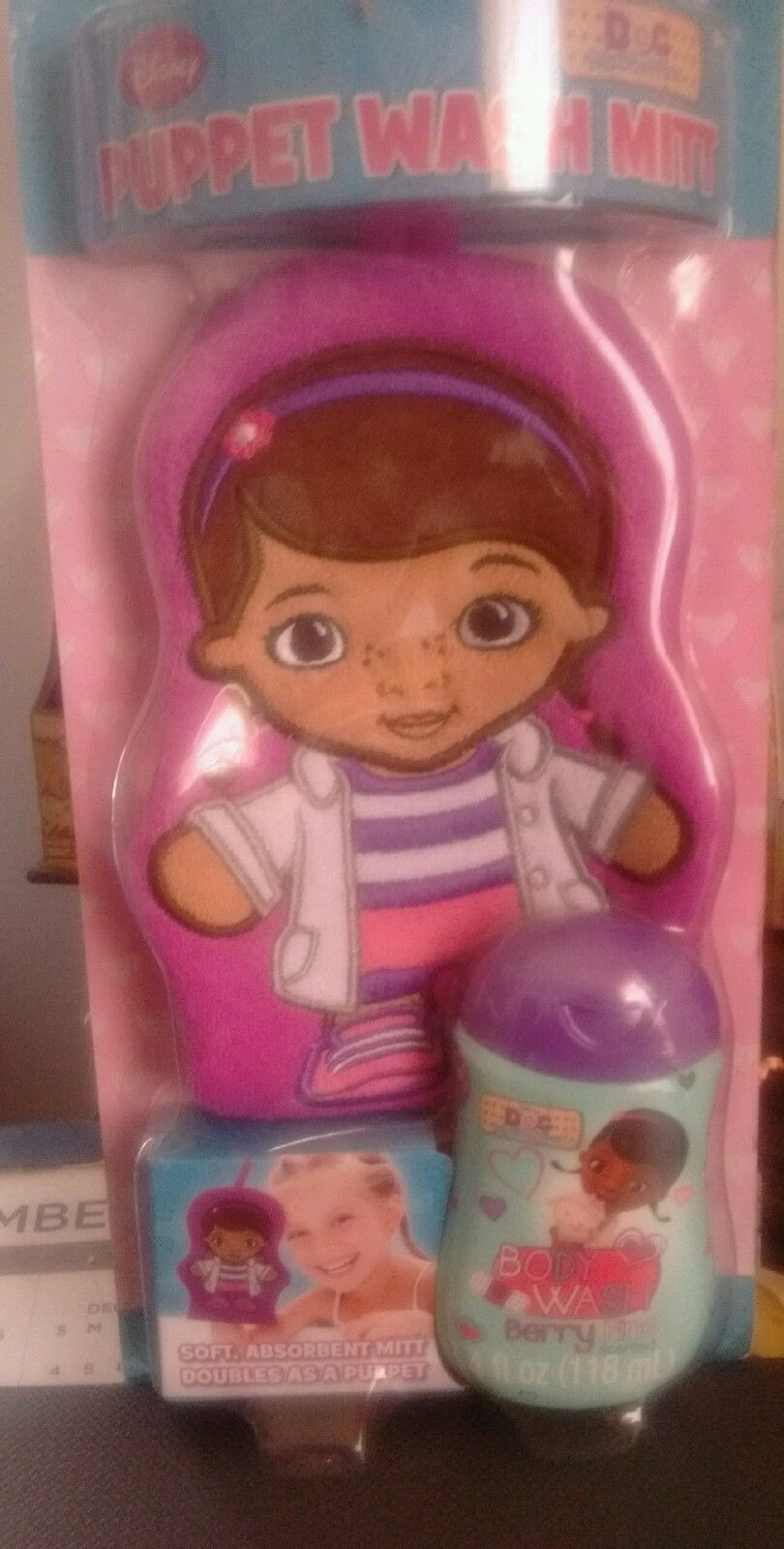 Primary image for Doc McStuffins Wash Mitt Puppet set- Body Wash Included Brand New
