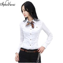 Shirts Women Tops And Blouses 2016 New Fashion Top Femme  Turn-Down Coll... - $17.10
