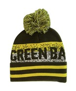 Green Bay Pixelated Adult Size Winter Knit Pom Beanie Hat (Dark Green/Gold) - $13.75