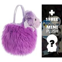 Fluffy W/ Pup: Fancys Mini-Plushse Pet Carriers Series + 1 Free Mini-Plush Charm - $49.99