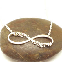 Handmade 925 Sterling Silver Personalized Latitude and Longitude Coordin... - $72.00