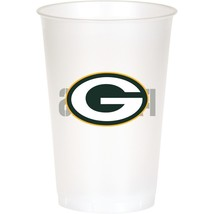 Green Bay Packers NFL 8 Ct 20 oz Cups Plastic Football Tailgating Party - $4.65