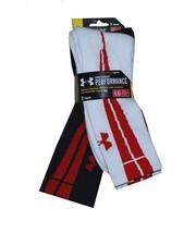 Under Armour Men 2PK Performance Ignite Crew Socks L White/Black - $24.99