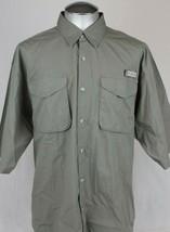 Columbia PFG Fishing Button Up Men's Large Nylon Vented Short Sleeve - $18.99