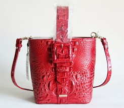 NWT BRAHMIN FAITH TEXTURED LEATHER CONVERTIBLE SHOULDER BAG LAVA MELBOURNE - $192.05