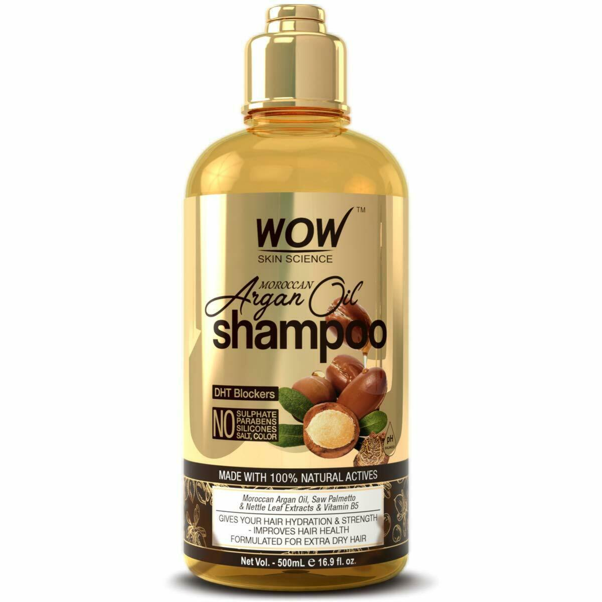 WOW Moroccan Argan Oil Shampoo With DHT Blockers - Boost Fast Hair Growth 500 ml - $18.99