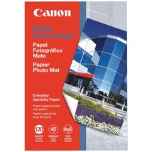 "Canon Matte Photo Paper (4"" X 6""; 120 Pk) - $11.16"