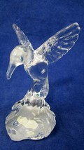 FENTON ART GLASS CLEAR GLASS HUMMING BIRD WITH BUTTERFLY  - $38.61