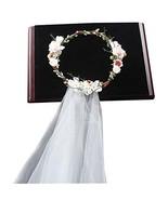 Flower Headband Bridal Flower Garland Crown Flower Headband Hair Wreath ... - $23.80