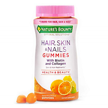 Nature's Bounty Hair, Skin & Nails with Biotin and Collagen, 80 Count, Orange - $14.48