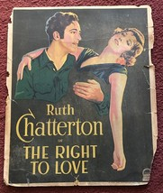 *THE RIGHT TO LOVE (1930) Window Card Ruth Chatterton & David Manners BE... - $175.00