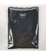 Mens Champion Vapor Performance T-shirt - Charcoal Gray w/Black Panels - L - $16.03