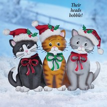 Christmas Yard Decoration Garden Decor Holiday Cats Stake Outdoor Xmas ... - $29.69