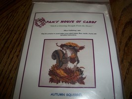 Pam's House of Cards Cross Stitch Kit~Autumn Squirrel - $22.00