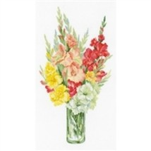 RIOLIS Counted Cross Stitch Kit, Bouquet Of Fladioli, Kit #R1446 - $29.21