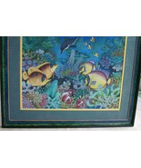 Framed Handpainted Original Painting Signed Art Seascape Fish Dolphin Co... - $569.99