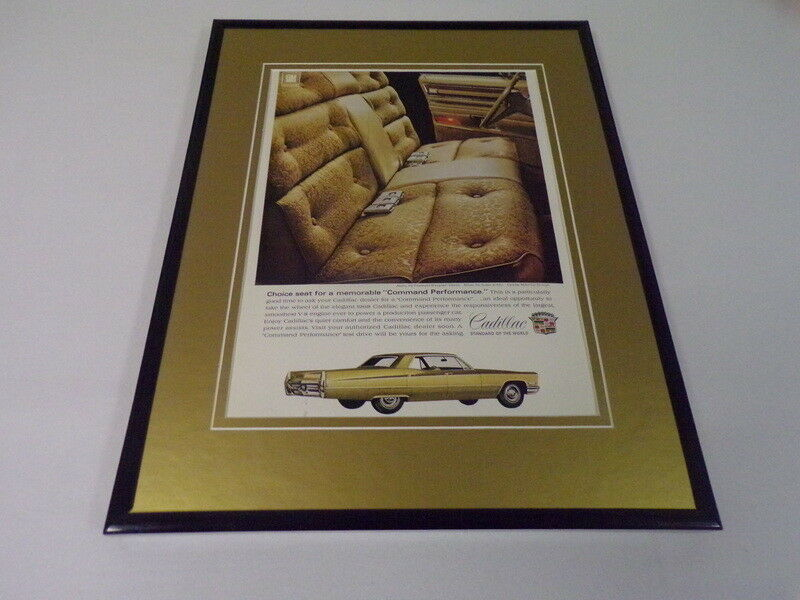 Primary image for 1968 Cadillac Sedan DeVille 11x14 Framed ORIGINAL Vintage Advertisement