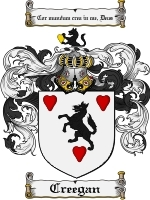 Primary image for Creegan Family Crest / Coat of Arms JPG or PDF Image Download