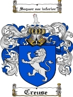 Primary image for Creuse Family Crest / Coat of Arms JPG or PDF Image Download