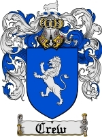 Primary image for Crew Family Crest / Coat of Arms JPG or PDF Image Download