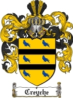 Primary image for Creyche Family Crest / Coat of Arms JPG or PDF Image Download