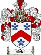 Criel Family Crest / Coat of Arms JPG or PDF Image Download - $6.99