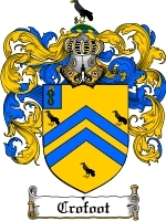 Primary image for Crofoot Family Crest / Coat of Arms JPG or PDF Image Download