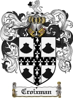 Croixman Family Crest / Coat of Arms JPG or PDF Image Download