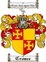 Primary image for Crosce Family Crest / Coat of Arms JPG or PDF Image Download