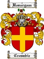 Crossbie Family Crest / Coat of Arms JPG or PDF Image Download