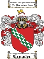 Primary image for Crouder Family Crest / Coat of Arms JPG or PDF Image Download
