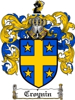Croynin Family Crest / Coat of Arms JPG or PDF Image Download