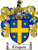 Croynin Family Crest / Coat of Arms JPG or PDF Image Download - $6.99