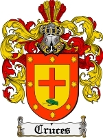 Primary image for Cruces Family Crest / Coat of Arms JPG or PDF Image Download