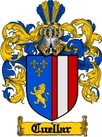 Primary image for Cuellar Family Crest / Coat of Arms JPG or PDF Image Download
