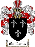 Primary image for Culwenne Family Crest / Coat of Arms JPG or PDF Image Download