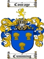 Cumming Family Crest / Coat of Arms JPG or PDF Image Download