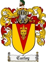 Primary image for Curley Family Crest / Coat of Arms JPG or PDF Image Download