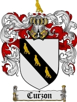 Primary image for Curzon Family Crest / Coat of Arms JPG or PDF Image Download