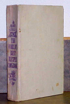 THE WORLD's BEST RECIPES Cookbook by Marvin Small - 1969 HC First Edition
