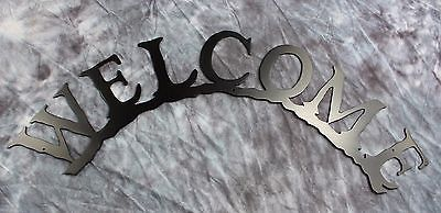 Primary image for Curved Welcome Metal Wall Art Black