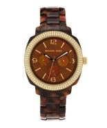 New With Box Michael Kors MK5086 Pave-Bezel Chronograph Watch Dark Havan... - $199.99
