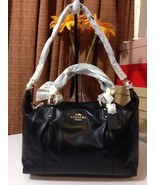 NWT COACH COLETTE LEATHER SATCHEL/SHOULDER BAG GOLD/BLACK IMBLK F33806 - $260.39