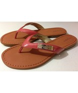 New COACH  SOMER PATENT WOMEN 8.5M SANDAL LOGANBERRY A6873 MSRP $118 - $99.99