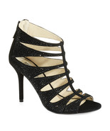 New MICHAEL KORS Mavis Open Toe Caged Heels Suede Crystal Accents Black ... - $199.00