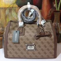 NWT GUESS Cheatin' Heart Girlfriend Satchel Brown - $128.00
