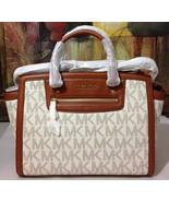 NWT Michael Kors Selma Zip Large TopZip Satchel Vanilla MSRP $358 - $299.00