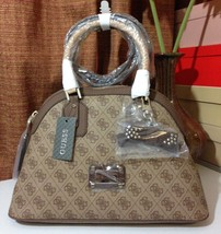 NWT GUESS Cheatin' Heart Dome Satchel Brown - $118.00