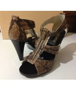 New MICHAEL KORS Berkley T Strap Embossed Snake... - $99.99